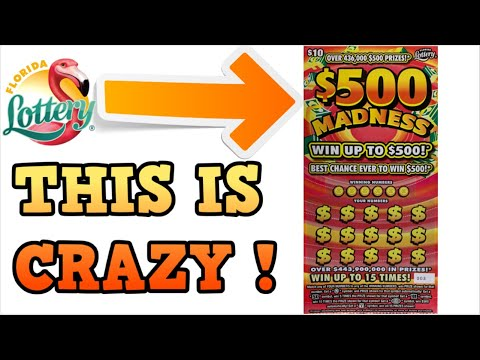 $500 MADNESS SCRATCH OFF TICKETS - FLORIDA LOTTERY
