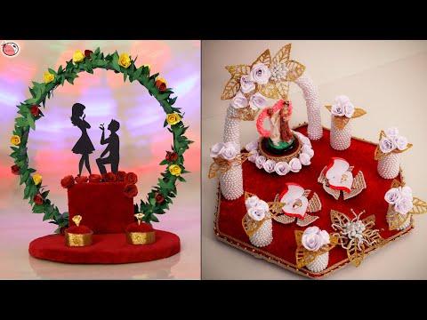 4 Newest!!.. Engagement Ring Tray Decoration Idea || Weeding Tray Decor