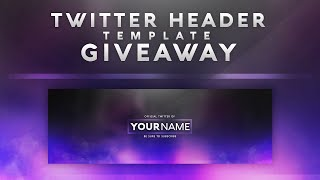 Free Twitter Header Template Give away