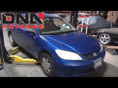 How to install 01-05 Honda Civic Coupe Sedan Coilovers