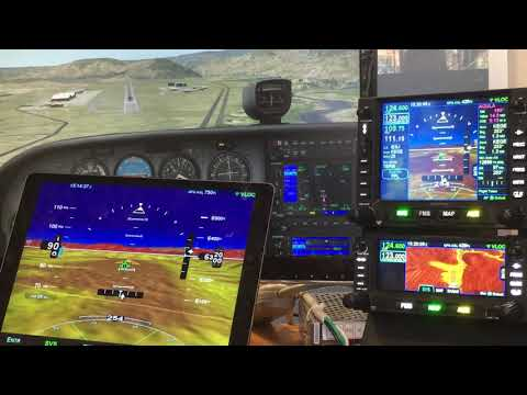 Avidyne IFD550 flying with X-Plane