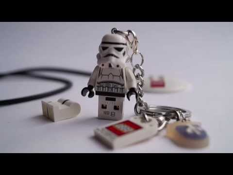 USB Stick Minifigure & Necklace & Keychain ALL IN 1