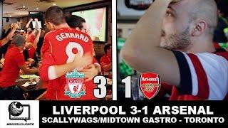 Liverpool FC vs Arsenal 3-1 at Scallywags & Midtown Gastro Hub | Toronto