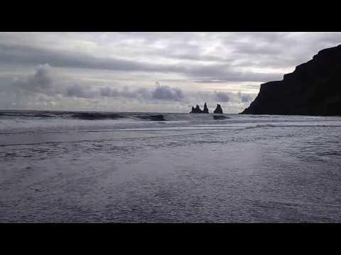 Islande vague Vik - Iceland waves at Vik