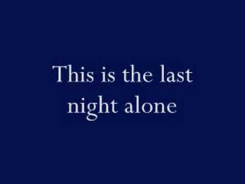 Bon Jovi- The Last Night lyrics (on screen)