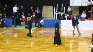 【4回戦】梅ヶ谷(中大)対加堂(関学大)  H27全日本学生剣道選手権