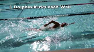 Lap Swim with Dolphin Kicks off Each Wall