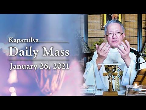 Encouraging The Youth To Grow In Faith   January 26, 2021   Kapamilya Daily Mass