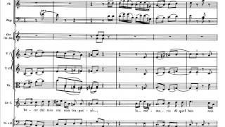 """Mozart, Nozze di Figaro - Rec. e Aria """"Dove sono i bei momenti"""" (score)"""