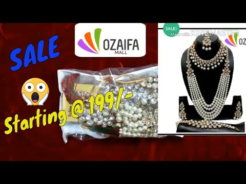 unboxing-bridal-kundan-jewellery-and-necklace-set-from-ozaifamall/-online-jewellery-review/unboxing