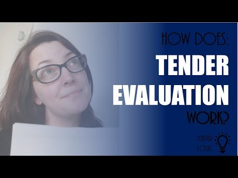 How does a tender evaluation work?