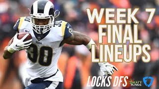 NFL Week 7 final lineup strategy, locks, sleepers for DraftKings and FanDuel — Locks DFS Podcast