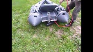 montage moteur électrique sur un  float tube