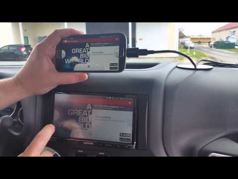 Full In-Car Kenwood Android Smartphone Control