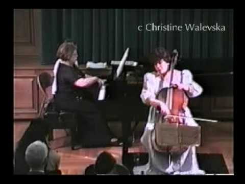Chopin / Largo from Cello Sonata Op.65 performing by Christine Walevska