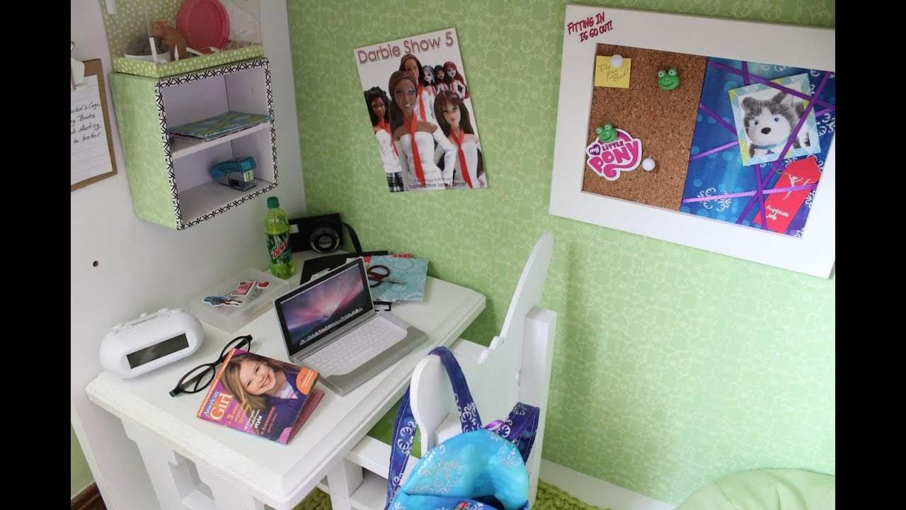 Doll Room Tour 18 Inch Doll Loft Bed The Gabby Diaries