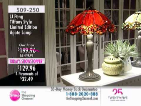 J.J. Peng Tiffany Style Agate Lamp At The Shopping Channel 509250
