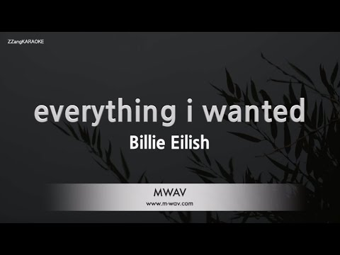Billie Eilish-everything I Wanted (Melody) (Karaoke Version) [ZZang KARAOKE]