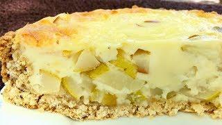 Заливной пирог с грушами.Невероятно вкусный но при этом очень простой рецепт!