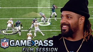 Cam Jordan Breaks Down Pass Rush Moves, Stunts & More | NFL Film Session