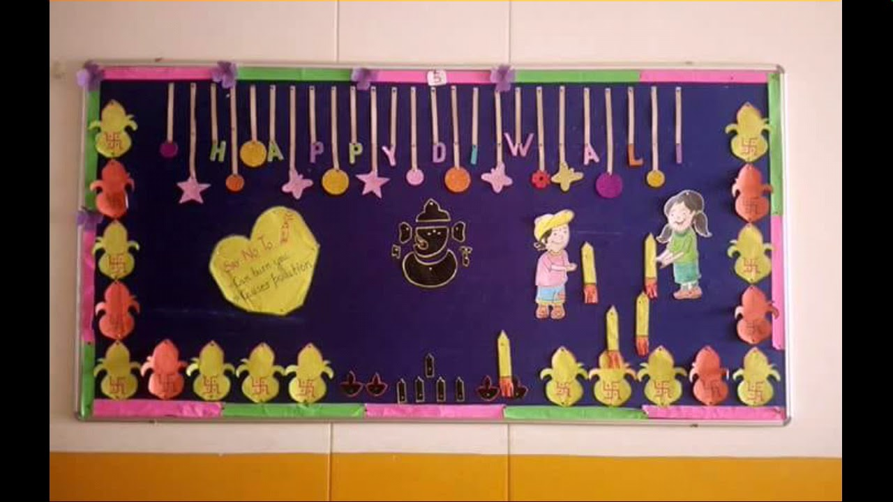 Bulletin Board Ideas On Diwali Diwali School Display Board