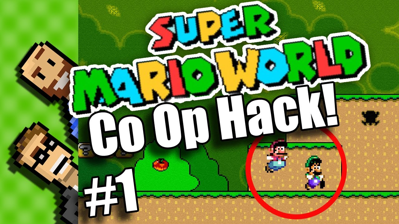 2 PLAYER SIMULTANEOUS! Super Mario World CO-OP Hack | Multiplayer Hack: SMW  Co Op | The Basement