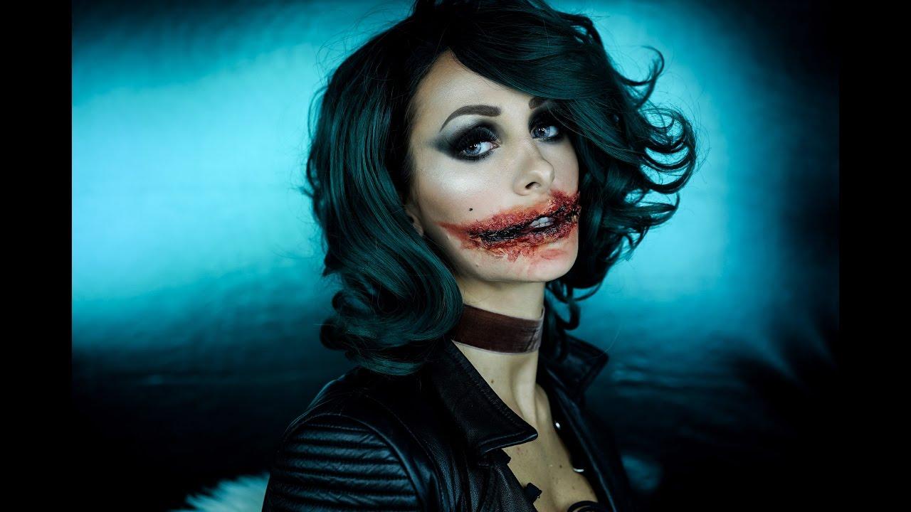 mrs. joker - halloween makeup tutorial - youtube