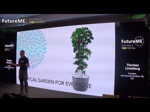 Vertical Aeroponic Gardening - Grow food on your apartment balcony | Thorben Linneberg | FutureME
