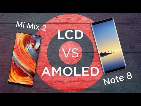 В чем разница между AMOLED и LCD на примере Mi Mix 2 и Samsung Galaxy Note 8