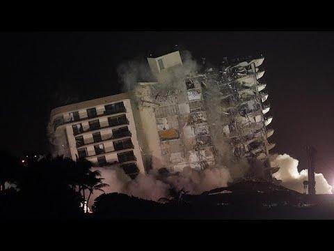 Así fue la demolición del edificio de Miami-Dade