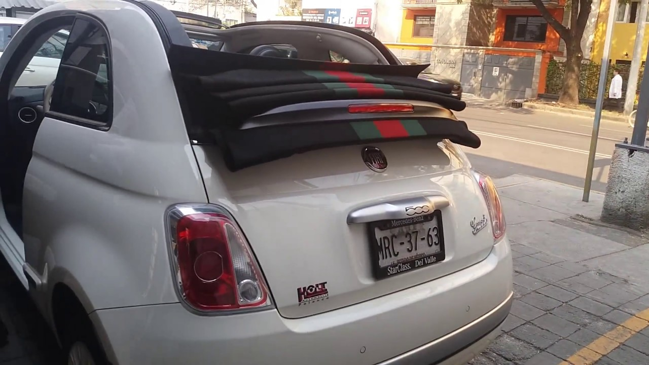 fiat 500 gucci convertible youtube. Black Bedroom Furniture Sets. Home Design Ideas