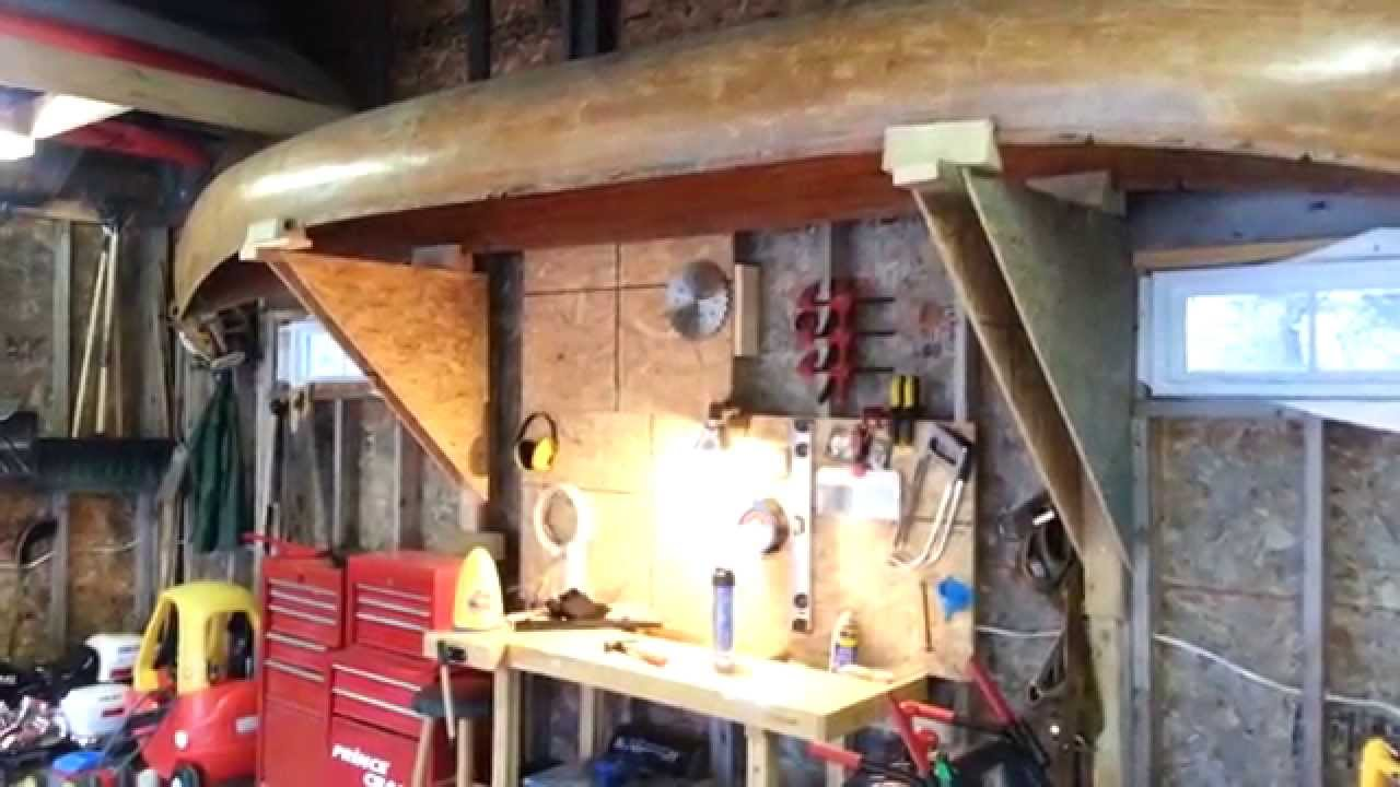 A Cheap And Simple Canoe Rack For Your Garage Youtube