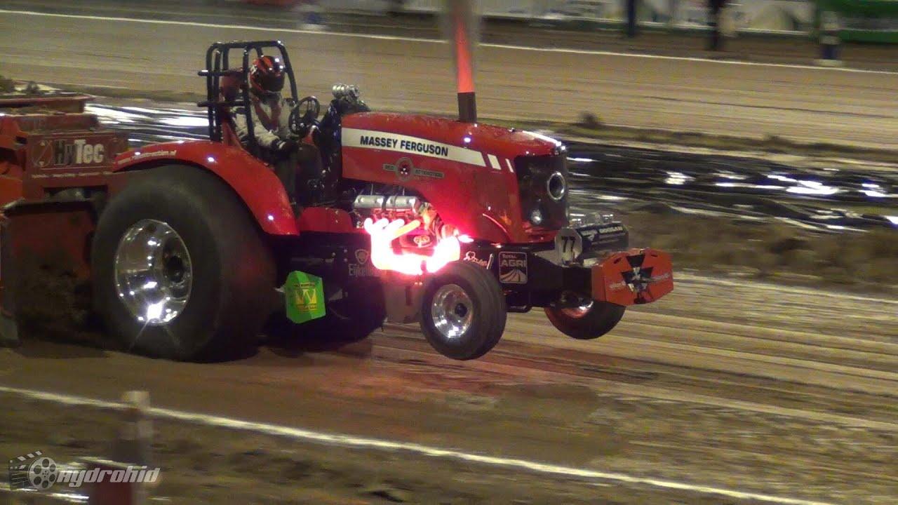Red Hot Massey Ferguson V8 Diesel! - Prostock Tractorpulling - Hydrohid