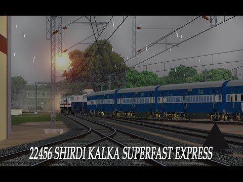 [MSTS] 22456 Shirdi Kalka Superfast Express Leaving Manmad Jn.