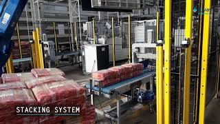 Video: ROBOT PALETIZADOR PASTA LARGA RETRACTILADO