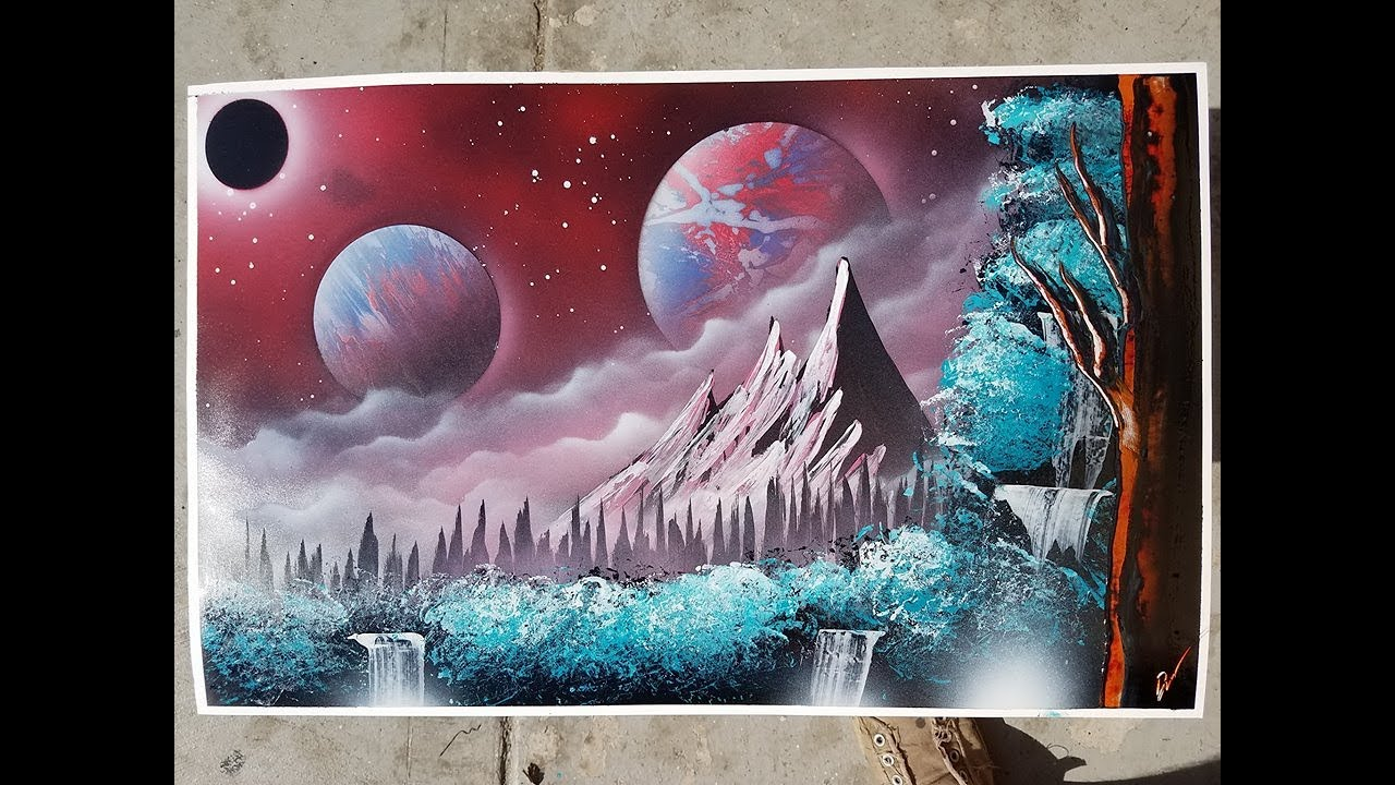Spray Paint Space Art Techniques