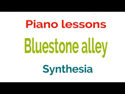 Bluestone alley piano tutorial and lyrics cover by - synthesia lesson