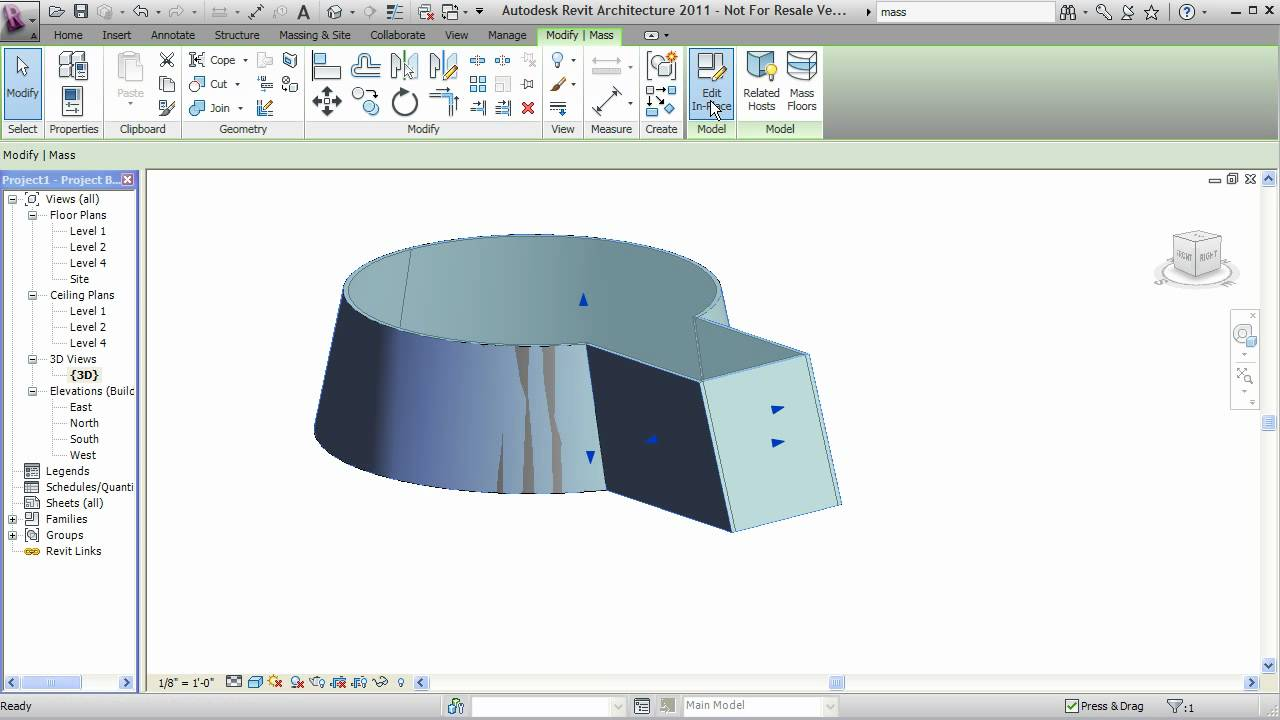 Revit In Place Mass Tutorial Youtube