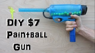 Homemade Paintball Gun! (Easy and Cheap!) mini potato gun thumbnail