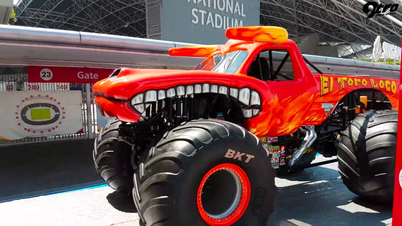 Monster Jam Comes To Singapore Youtube