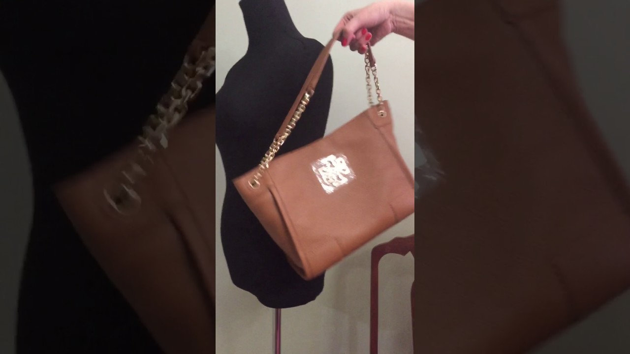 e64fceb5cb53 Toryburchbag Tory Burch Britten center zip tote leather bark review ...