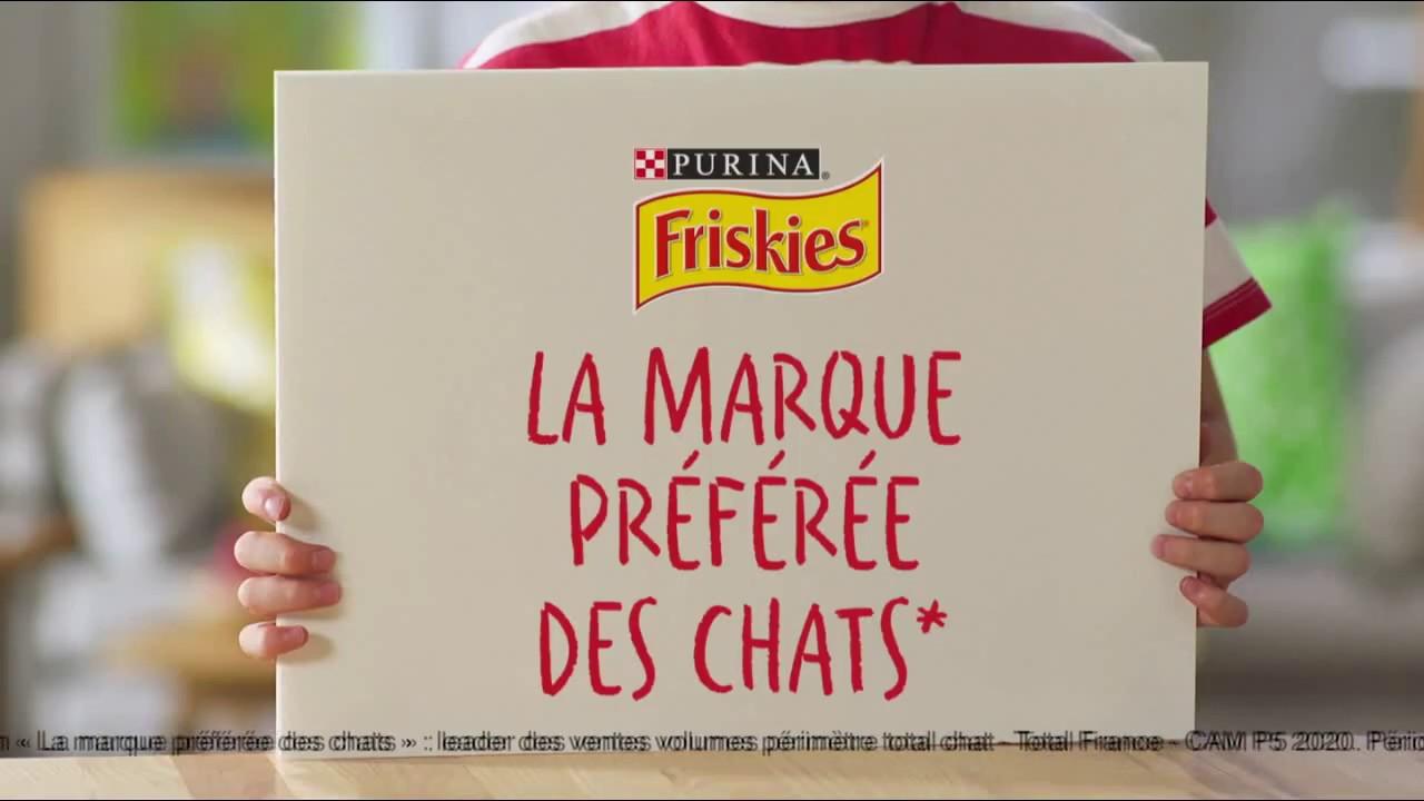 """Musique de la pub Friskies Purina """"la marque préférée des chats – prenons soin d'eux""""  2021"""