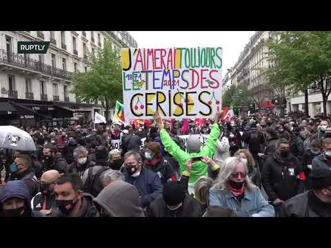 LIVE: Parisians ?demonstrate on International Workers' Day