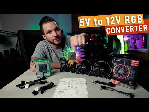 Use 5V RGB Fans on 12V Motherboard with DEEPCOOL RGB CONVERTER