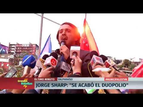 """El independiente Jorge Sharp da la gran sorpresa en Valparaíso: """"Se acabó el duopolio"""""""