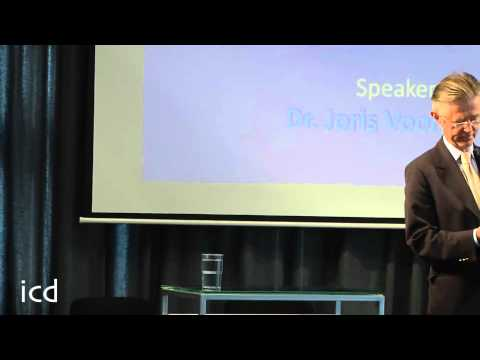 A lecture by Dr. Joris Voorhoeve (Former Defense Minister of Holland)