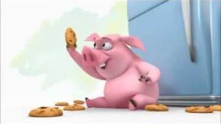 Убойный мультик про свинью и печенья.
