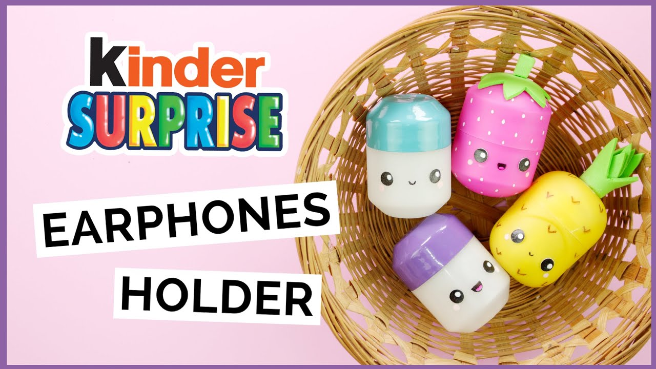 diy kinder surprise earphones holder diy surprise egg pill box diy surprise egg container. Black Bedroom Furniture Sets. Home Design Ideas