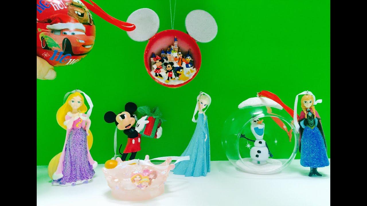 Disney tree ornaments - Disney Frozen Rapunzel And Mickey Mouse Christmas Tree Ornaments