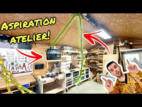 Aménagement atelier – Support scie à onglet et système d'aspiration ! Brico Seb